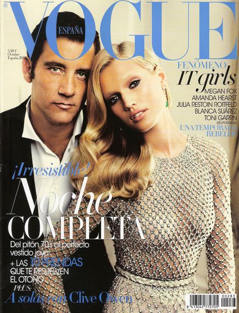 Обложка журнала Vogue с Клайвом Оуэном